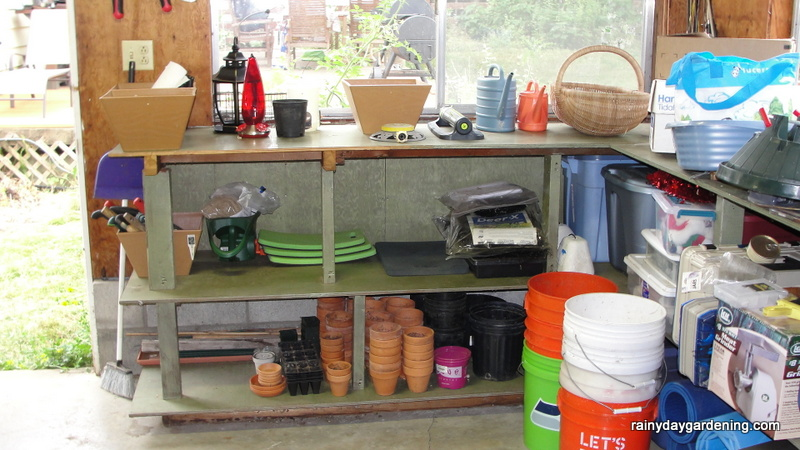Organized Potting Area (w) -- 7-11-2015